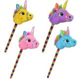 Unicorn de calarit cu bat si sunet, diverse culori, 80 cm