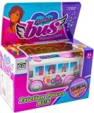 Jucarie Autobuz roz, cu desene
