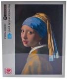 Puzzle din carton, 1000 piese, Fata cu cercel de perla