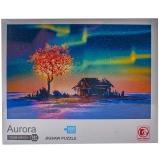 Puzzle din carton, 1000 piese, Aurora boreala