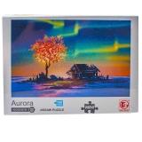 Puzzle din carton mini, 1000 piese, Aurora Boreala