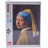 Puzzle din carton mini, 1000 piese, Fata cu cercel de perla
