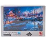 Puzzle din carton mini, 1000 piese, Peisaj de iarna