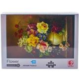 Puzzle din carton mini, 1000 piese, Vaza cu flori