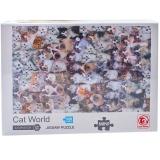 Puzzle din carton mini, 1000 piese, Lumea Pisicilor