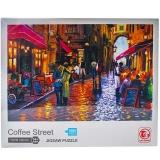 Puzzle din carton, 1000 piese, Strada cu cafenele