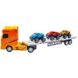 Jucarie Tir cu 3 Jeep-uri pe remorca