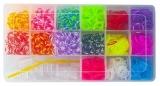 Set creativ de elastice pentru bratari, 1500 piese