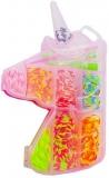Set creativ de elastice pentru bratari, 250 piese, cutie Unicorn