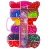 Set creativ de elastice pentru bratari, 3200 piese, cutie Ursulet