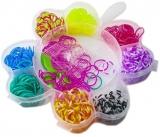 Set creativ de elastice pentru bratari, 360 piese, cutie Floare