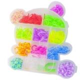 Set creativ de elastice pentru bratari, 550 piese, cutie Ursulet Panda