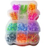Set creativ de elastice pentru bratari, 650 piese, cutie Ursulet