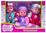 Bebelusi cu accesorii 3 buc/set