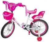 Bicicleta fete, cu leduri si muzica, roti 18 inch, GIRL