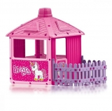 Casuta roz cu gard, Unicorn City House Dolu