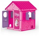 Casuta roz Unicorn, My First House Dolu