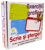 Joc educativ Scrie si Sterge! Exercitii grafice