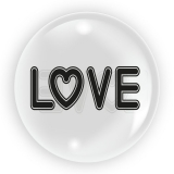 Balon transparent Love, 45 cm, Tuban