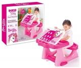 Birou din plastic pentru copii, roz, 50 cm, Dolu