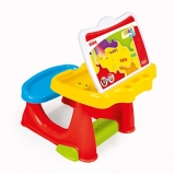 Birou din plastic pentru copii, multicolor, 50 cm, Dolu