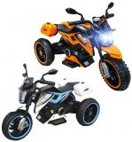 Triciclu cu acumulator, 2 motoare, diverse culori, 12V, 4A