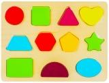 Puzzle din lemn incastru, Litere/Numere/Semne