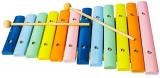 Jucarie Xilofon multicolor, din lemn