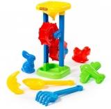 Set de joaca Moara pentru nisip cu 7 accesorii Polesie