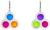Jucarie antistres breloc cu 3 bilute, diverse culori