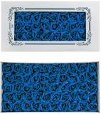 Trandafiri decorativi din sapun, culoare albastru, 50 buc/set