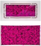 Trandafiri decorativi din sapun, culoare fucsia, 50 buc/set