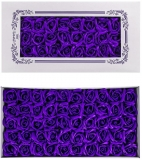 Trandafiri decorativi din sapun, culoare indigo, 50 buc/set