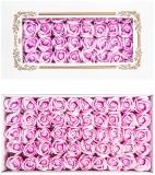 Trandafiri decorativi din sapun, culoare lavanda, 50 buc/set
