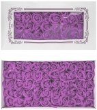 Trandafiri decorativi din sapun, culoare lila, 50 buc/set