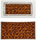 Trandafiri decorativi din sapun, culoare maro, 50 buc/set