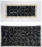 Trandafiri decorativi din sapun, culoare negru, 50 buc/set
