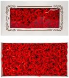 Trandafiri decorativi din sapun, culoare rosu, 50 buc/set
