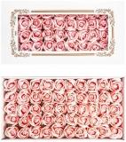 Trandafiri decorativi din sapun, culoare roz pal, 50 buc/set
