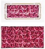 Trandafiri decorativi din sapun, culoare roz prafuit, 50 buc/set