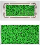 Trandafiri decorativi din sapun, culoare verde, 50 buc/set