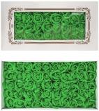 Trandafiri decorativi din sapun, culoare verde fistic, 50 buc/set