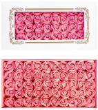 Trandafiri decorativi din sapun, culoare roz deschis, 50 buc/set