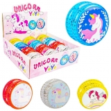 Yoyo cu lumina 5.5 cm, model Unicorn, diverse culori