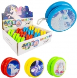 Yoyo cu lumina 6.2 cm, model Unicorn, diverse culori