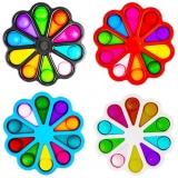 Jucarie senzoriala antistres Pop It, Floare Multicolora, diverse modele