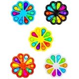 Jucarie senzoriala antistres Pop It, Floare Multicolora cu numere, diverse modele