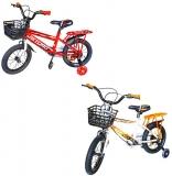 Bicicleta copii, roti 14 inch, cu cos, diverse culori