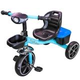 Tricicleta cu pedale, cos si portbagaj, diverse culori