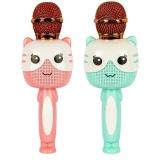 Microfon Karaoke cu Bluetooth, model Pisica